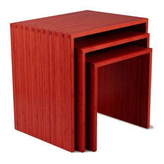 Troika Nesting Tables Set Of 3 Ruby