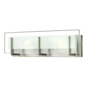 Latitude 2 Light Bathroom Vanity Light in Brushed Nickel