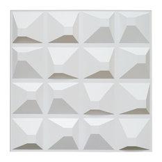 "20""x20"" Art3d Decorative 3D Panels Textured Wall Design Board, Set of 12"