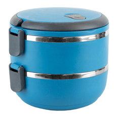 2-Tier Leak-Proof Lunch Box, Blue