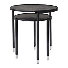 20.25-inchx20.25-inchx21.75-inch Black Large Nesting Tables