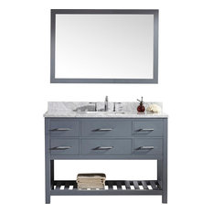 Avignon Bathroom Vanity, Square Basin, Without Faucet, With Mirror, 48""