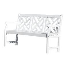 Vifah - Bradley Outdoor Wood Bench - Garden Benches