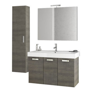 "Monaco 30"" Vanity Set With Mirror, Matte White ..."