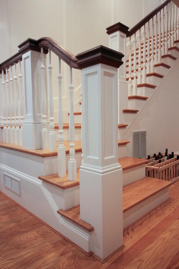 Elegant Wall-Mounted Craftsman Style Staircase, Arlington VA 22205