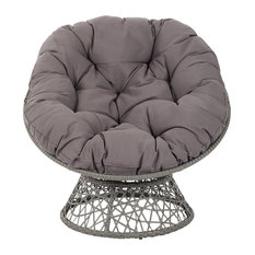 Office Star Products   Papasan Chair, Gray   Armchairs And Accent Chairs