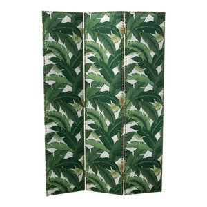 Adult Straight Screen With Nail Buttons in Swaying Palm Aloe