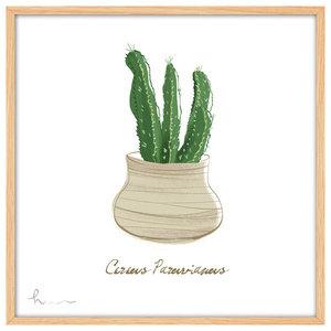 """Cactus"" Art Print, Natural Frame, 93x63 cm"