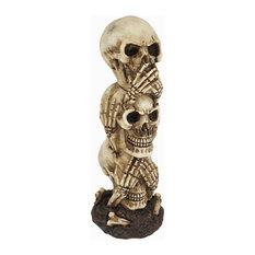 See No Evil, Hear No Evil, Speak No Evil Stacked Skulls