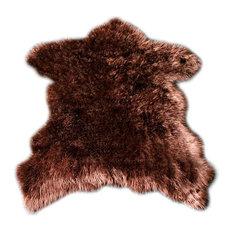 Premium Faux Fur Bear Throw Rug, 3'x5'