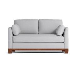 Avalon Apartment Size Sofa Stone 57-inchx37-inchx30-inch
