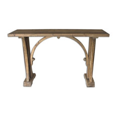 Genessis Reclaimed Wood Console Table By Designer Matthew Williams