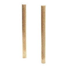 12 Inch Beeswax Tapers, Pair, Champagne
