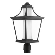 Endorse Collection 1-Light LED Post Lantern, Black