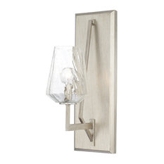 Arden 1-Light Sconce, Brushed Silver