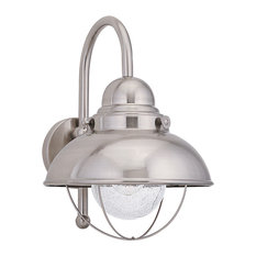 Sebring 1 Light Outdoor Wall Light in Brushed Stainless