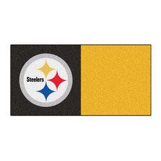 "18""x18"" NFL Pittsburgh Steelers Carpet Tiles, Set of 20"
