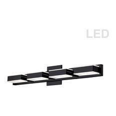 4-Light LED Wall Vanity, Matte Black