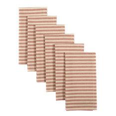 Kendra Stripe Red Napkin, Set of 6