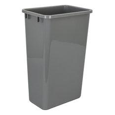 Plastic Waste Container, Gray, 50-Quart