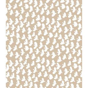 Lola Fly Away Oatmeal PVC Tablecloth, 140x140cm - Round