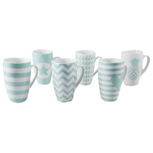 Vert D'Eau Coffee Mugs, Set of 6