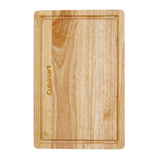 """12.5"""" Rubberwood Cutting Board With Drainage Grooves"""