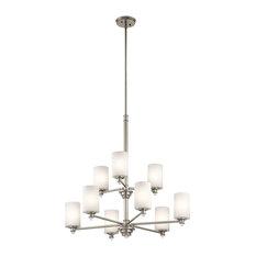 Joelson Chandelier 9-Light, Brushed Nickel, Standard