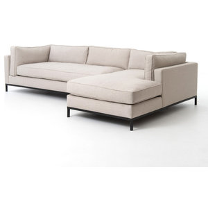 Marvelous 111 L Coralie Pc Sectional Sofa W Raf Chaise Iron Gris Dailytribune Chair Design For Home Dailytribuneorg