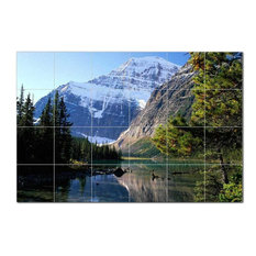 Mountain Picture Ceramic Tile Mural Kitchen Backsplash Bathroom Shower, 405598-S