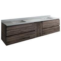 """Fresca Formosa 84"""" Wall Hung  Modern Bathroom Cabinet, FCB31-361236ACA-CWH-U"""