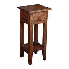Narrow Side Table in Raftwood Finish