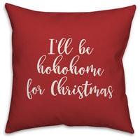 Oh Holy Night, Red 18x18 Throw Pillow Cover