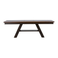 Liberty Furniture Lawson Pedestal Dining Table, Light / Dark Espresso Finish
