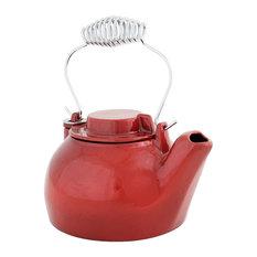2.5 Quart Cast Iron Humidifying Kettle, Red