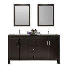 "Hanson Double Sink Vanity Set, 60"""