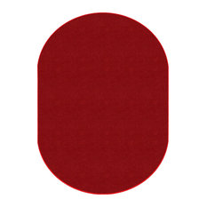 Americolors Oval Rowdy Red Rug, 7'6x12'
