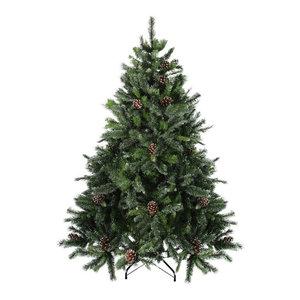 6.5' Delta Pine With Pine Cones Christmas Tree