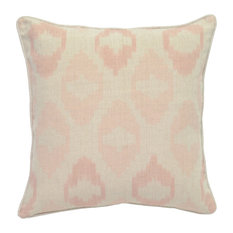 "Fay 100% Linen 22"" Throw Pillow, Blush Pink by Kosas Home"