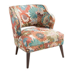 Madison Park Open Back Accent Chair, Floral