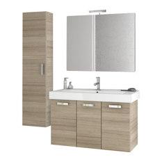 Captivating ACF   40 Inch Larch Canapa Bathroom Vanity Set   Bathroom Vanities And Sink  Consoles