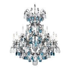 schonbek lighting schonbek lighting 357347ad renaissance rock crystal pewter 16 light chandelier - Schonbek
