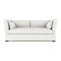 Rivington 6' Crushed Velvet Sofa Alabaster Extra Deep