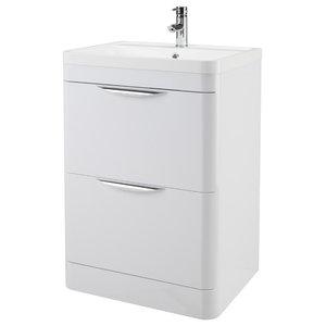 Parade Gloss White Bathroom Vanity Unit, 60 cm