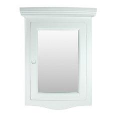 Renovator's Supply - Wall Mount Corner Recessed White Medicine Cabinet With Mirror - Medicine Cabinets