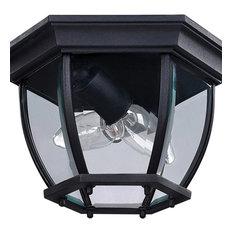 Canarm Foyer 2-LT Outdoor Wall Light IOL60BK, Black