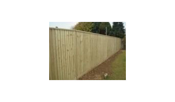 Feather-edge fence