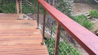 Wire Staircase and Deck