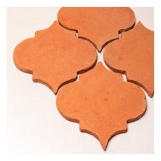"Encaustic Terracotta Arabesque, 8""x9"", Set of 28 tiles"