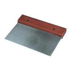 Stainless Steel Pastry Scraper Cutter Riveted Wooden Handle